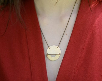 Boho Necklace, Statement Necklace, Geometric Necklace, Minimalist Jewelry, Gift for Her, RISE