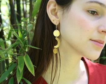 Geometric Earrings, Bold Earrings, Circle Earrings, Statement Earrings, Minimalist Jewelry, Gift for Her, CURVE