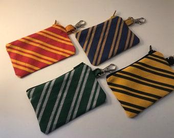 Tiny Zipper Pouch-Wizard School Colours