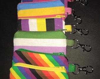 Tiny Zipper Pouches-Pride Flag Colors