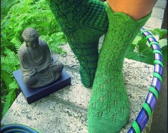 Lotus Heart Socks PDF pattern