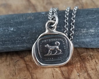 Bronze True Friend Wax Seal Necklace of a Dog - 233