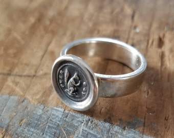 Squirrel Wax Seal Ring - Whimsy Ring - 122R