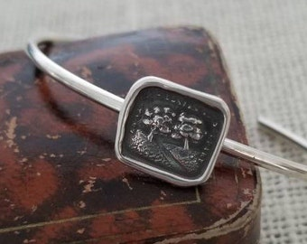 You are my Destiny Cuff Bracelet- Two Trees Wax Seal Necklace - In Vain Destiny Seperates Us - 310