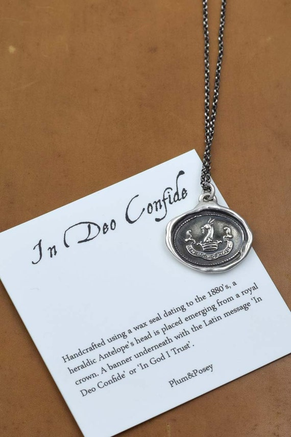 In God I Trust In Deo Confide Latin Antique Wax Seal Etsy