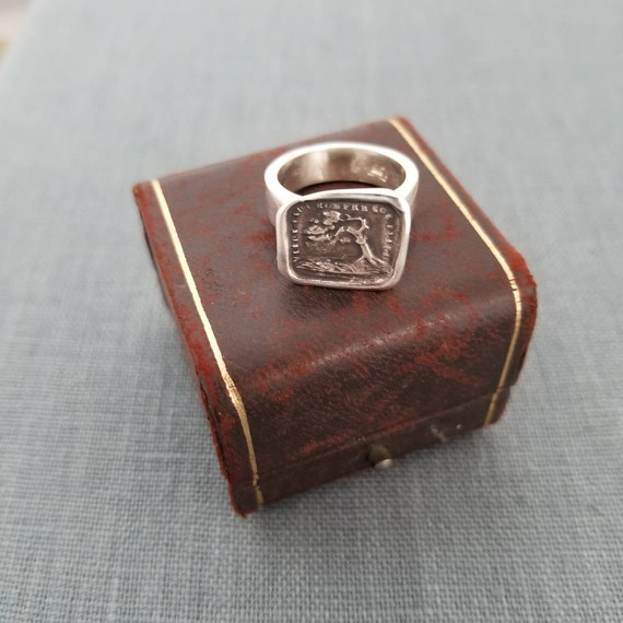Bend Don't Break Wax Seal Ring   101 Strength Jewelry by Etsy