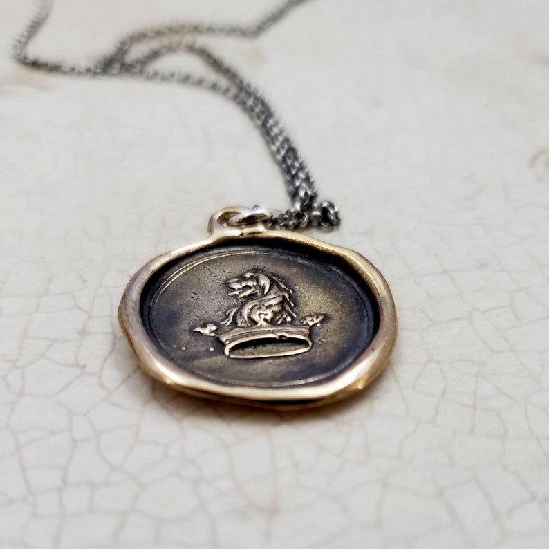 Lion /& Crown 413 Courage to Dream Wax seal Jewelry