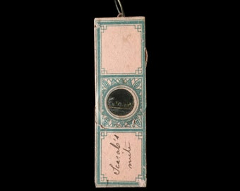 Small Antique Microscope Slide Pendant