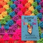 Kittypinkstars rockin the rainbow pin