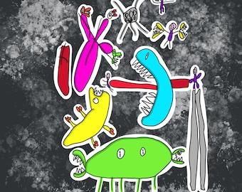 Kittypinkstars children art collaboration