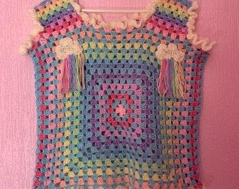 Spring showers crochet tank
