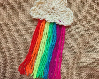 Be a rainbow in somebody's cloud brooch