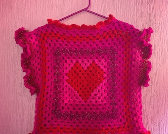 Big love crochet tank
