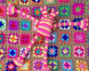 Kittypinkstars knitted creature