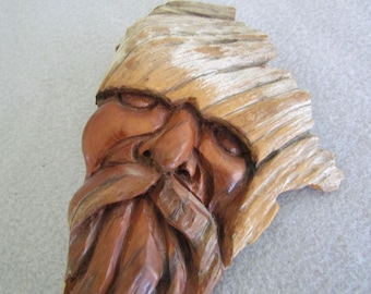 Wood Spirit Face Carved in Driftwood