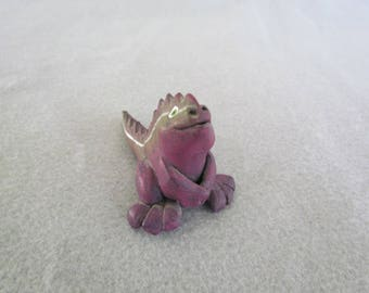 Purple Dragon Whistle made of clay