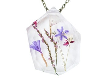 Real Flower Resin Necklace
