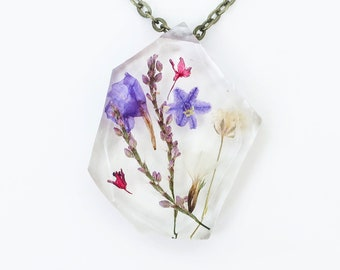 """Ladybird Collection - """"Resolution"""" - Real Dried Flower Resin Necklace"""