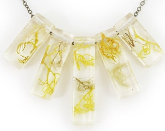 Lichen Terrarium Statement Necklace