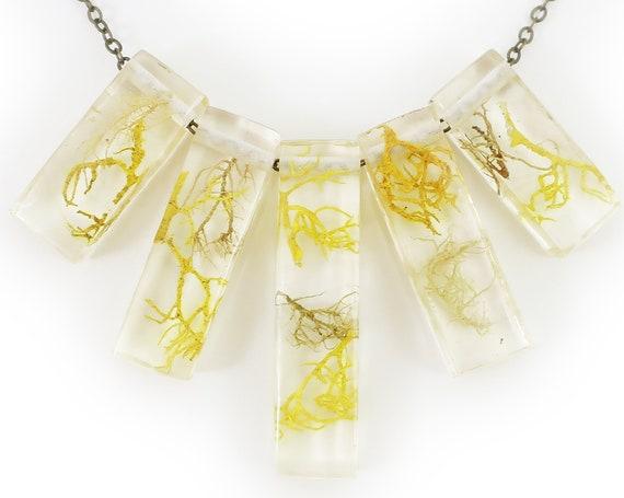Lichen Terrarium Statement Necklace