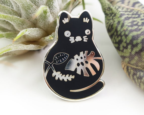 Plump Plant Kitty Enamel Pin