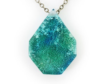 Resin Art Pendant - Peacock Collection