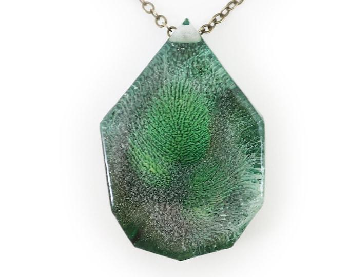 Resin Art Pendant - Peacock Collection