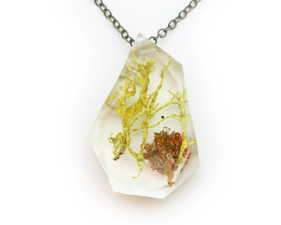 Geometric Terrarium Resin Necklace