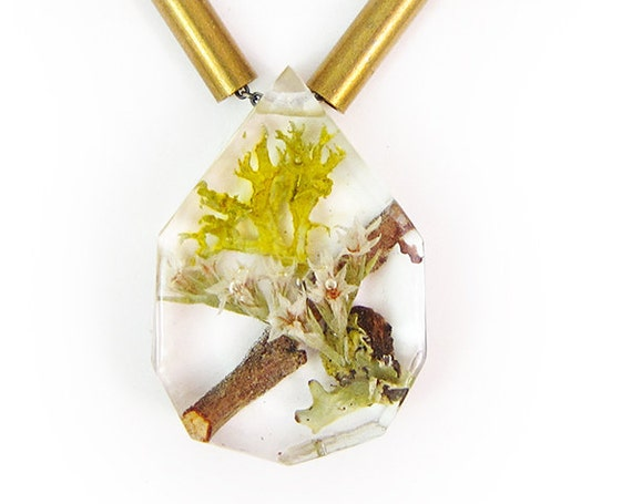 Floral Terrarium Necklace