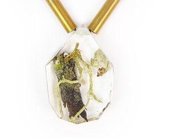 Terrarium and Brass Necklace