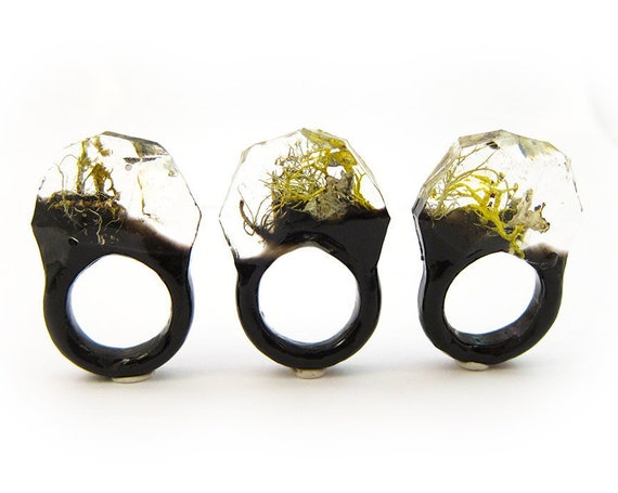 Terrarium Resin Ring | Size 7