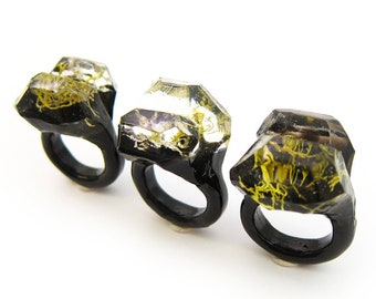 Terrarium Resin Ring | Size 7