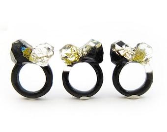 Terrarium Resin Ring   Size 9