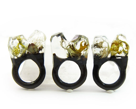 Terrarium Resin Ring | Size 6