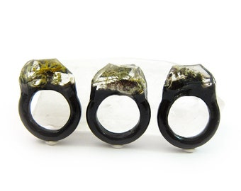 Terrarium Resin Ring | Size 7.5