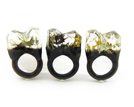 Terrarium Resin Ring | Size 5
