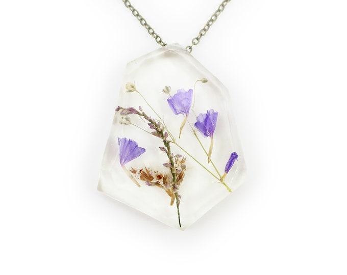 Real Dried Flower Flower Resin Herbarium Necklace