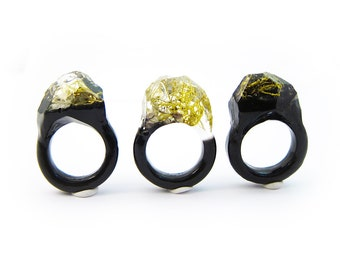 Terrarium Resin Ring | Size 5.5