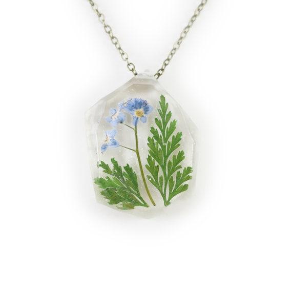 Pressed Flower Resin Necklace