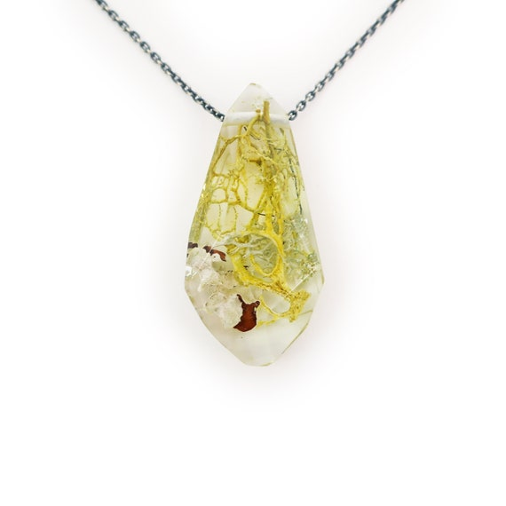 Terrarium Gem Eco Resin Necklace