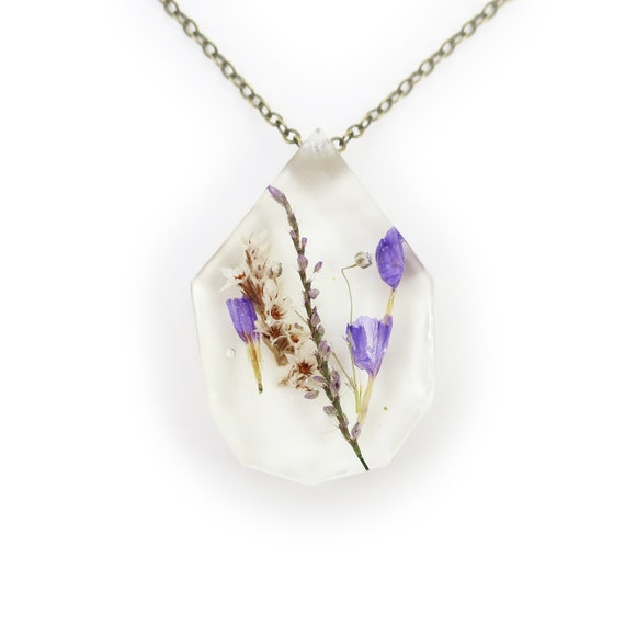 Real Dried Flower Necklace