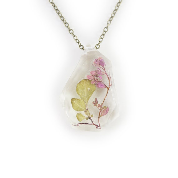 Pressed Flower Resin Necklace