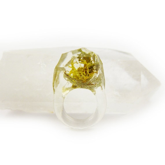 Terrarium Resin Ring | Size 4.5