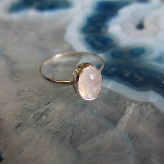 Moonstone Stacking Sterling Silver Ring