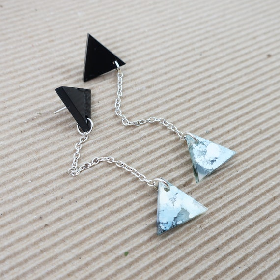 Fluid Art Resin Earrings - Poseidon Collection