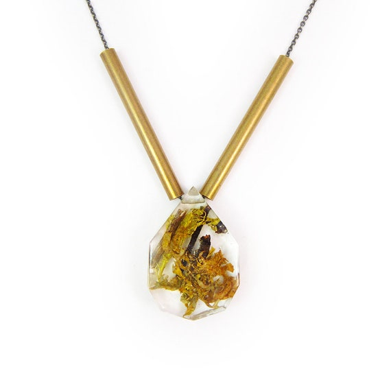 Terrarium + Brass Necklace