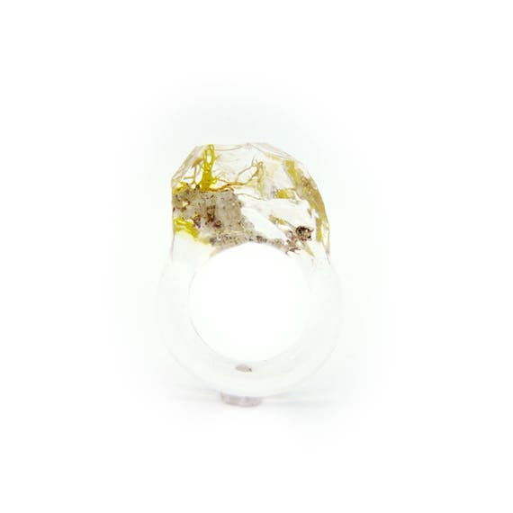 Faceted Terrarium Ring • Size 7.5
