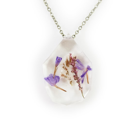 Botanical Flower Eco Resin Necklace