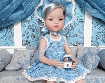 Crocheted dress pattern for Paola Reina Las Amigas 32 cm doll - PDF download