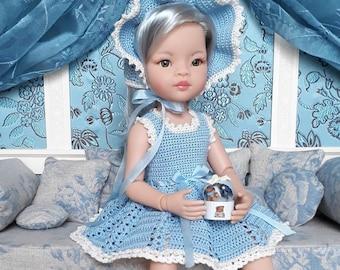 Bundle - Crocheted dress and bonnet patterns for Paola Reina Las Amigas 32 cm doll - PDF download